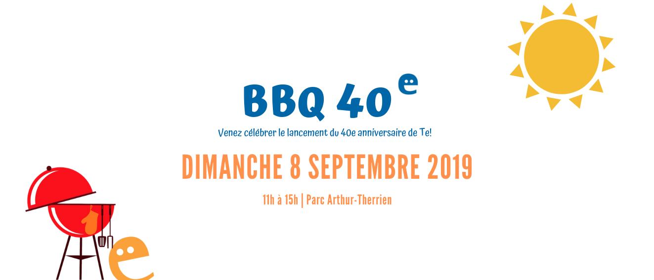 BBQ Toujours ensemble 40 ans  Te